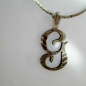 """Jewelry - STERLING SILVER CURSIVE """"G""""  INITIAL NECKLACE"""
